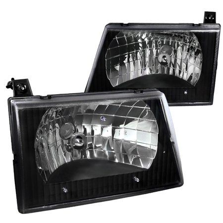 E-150 E250 E-350 Van (Spec-D Tuning 1992-2006 Ford E150 E250 E350 E450 Econoline Van Euro Headlights Lamps 93 94 95 96 97 98 99 00 01 02 03 04 05 06 (Left +)