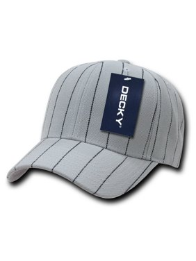 Decky 208 Pin Striped Adjustable Ball Caps, Grey