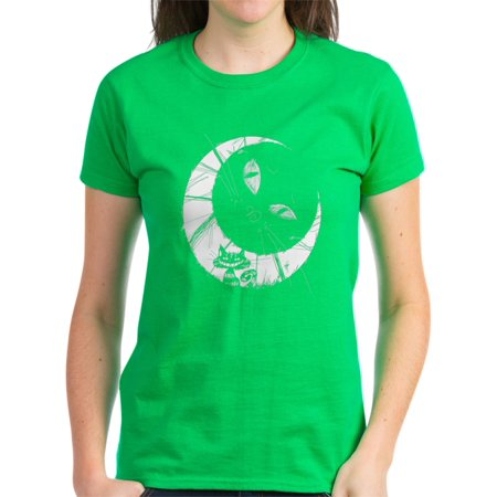 c37d8ca9 CafePress - Cheshire Moon - Women's Dark T-Shirt - Walmart.com