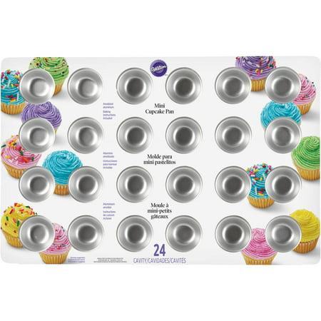 Wilton 24 Cavity Mini Cupcake Pan 2105 5120 Walmart Com