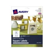 Avery Print to the Edge Labels - Square - White - 2 inches - Makes 120