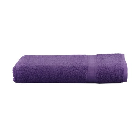 Mainstays Basic Bath Collection - Single Bath Sheet, Solid Purple