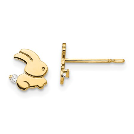 14k Madi K CZ Bunny Post Earrings