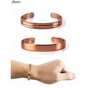 """Spencer Men Women Magnetic Copper Healing Bracelet Therapy Joint Pain Relief Bracelet with 6 Powerful Magnets for Arthritis, Carpal Tunnel """"Size A"""""""