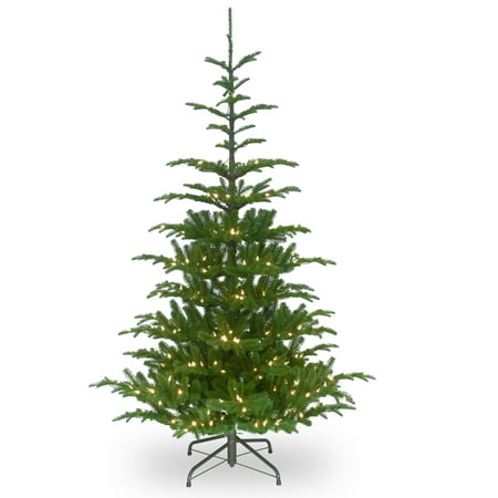 Paper Company Tree (National Tree Company 6.5 ft. Norwegian Spruce Tree with Clear Lights )
