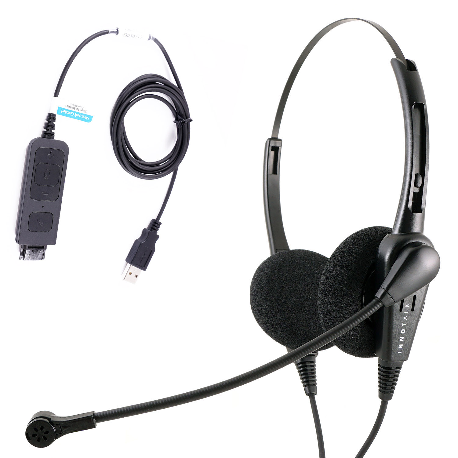 Economic Call Center Usb Binaural Pc Headset With Plug N Play Usb Headset For Ms Lync Skype Cisco Jabber Avaya One X Agent Plantronics Compatible Quick Disconnect Walmart Com Walmart Com