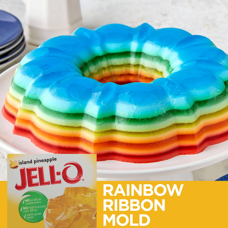 Jell O Island Pineapple Gelatin Mix 3 Oz Box Walmart