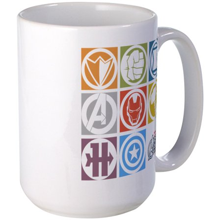CafePress - Avengers Squares Large Mug - 15 oz Ceramic Large Mug