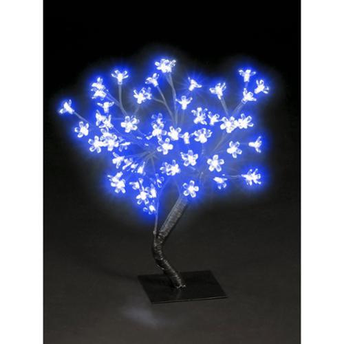 Transcontinental 1.5-foot Blossom Tree 48 Blue LEDS UL Lights