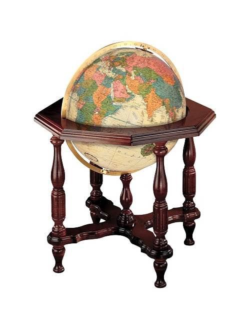 Statesman 20 Inch Antique Style Floor Globe w Illumination by Replogle Globes