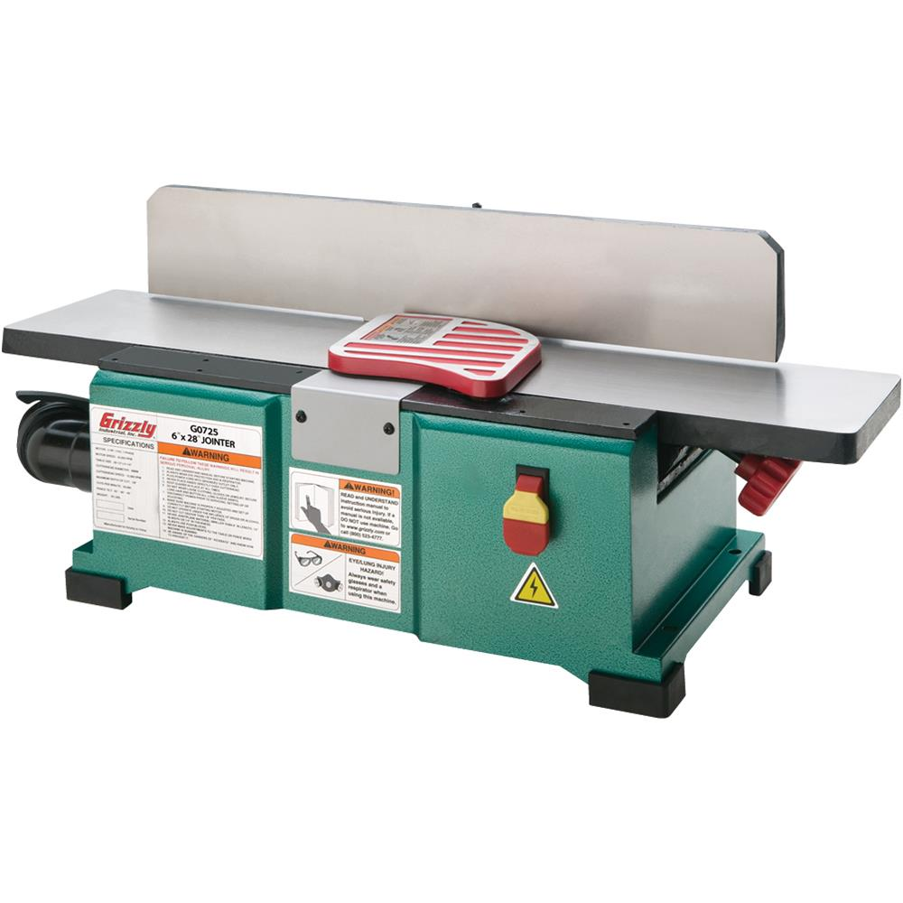 "Grizzly G0725 6"" x 28"" Benchtop Jointer by GRIZZLY"
