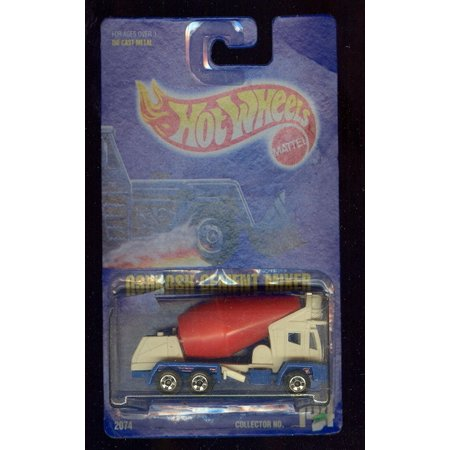 1991-144 Oshkosh Cement Mixer All Blue Card 1:64 Scale, 1:64 Scale Die-Cast Collectible Car By Hot Wheels