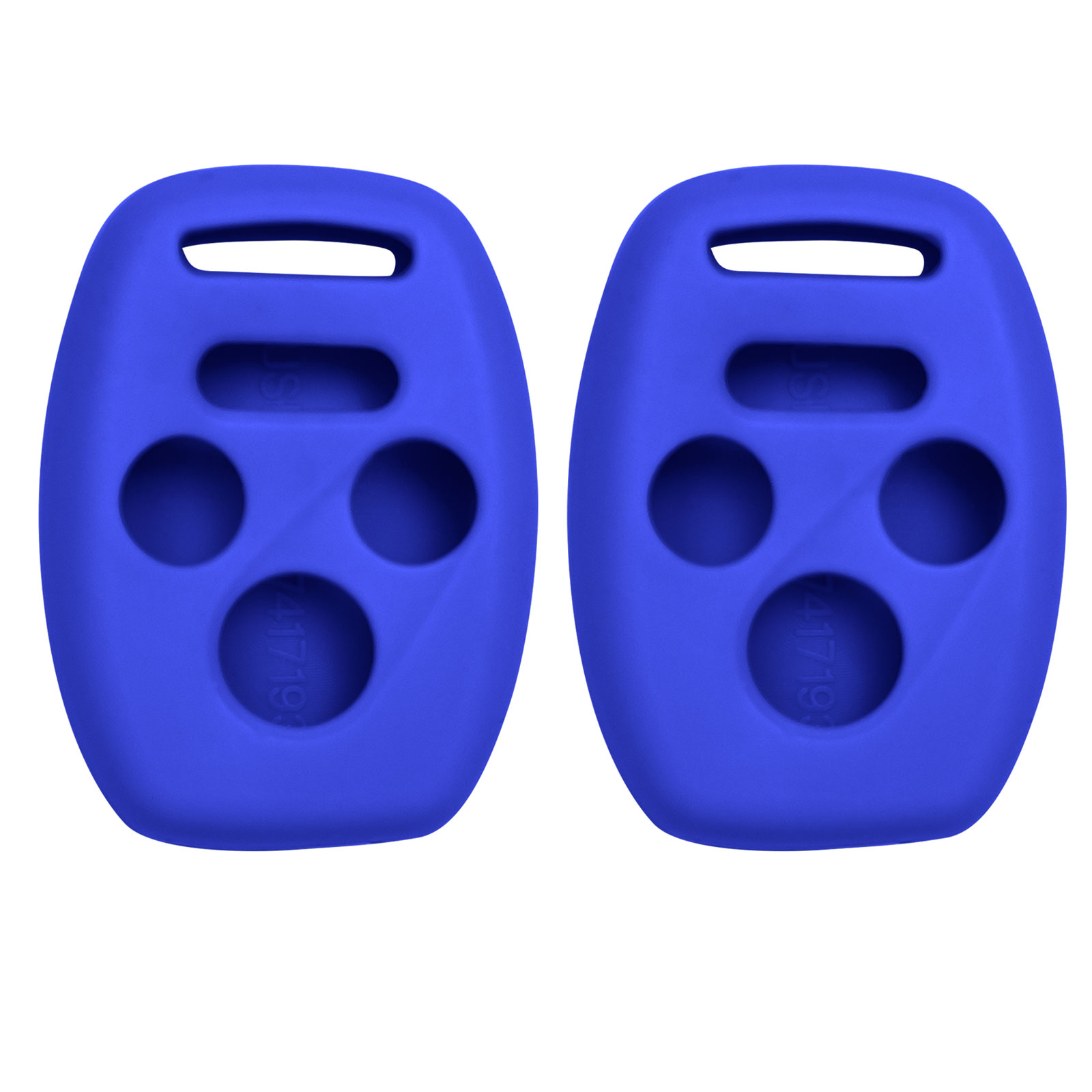 Keyless2Go New Silicone Cover Protective Cases for 4 Button Remote Keys KR55WK49308 MLBHLIK-1T OUCG8D-380H-A (2 Pack)