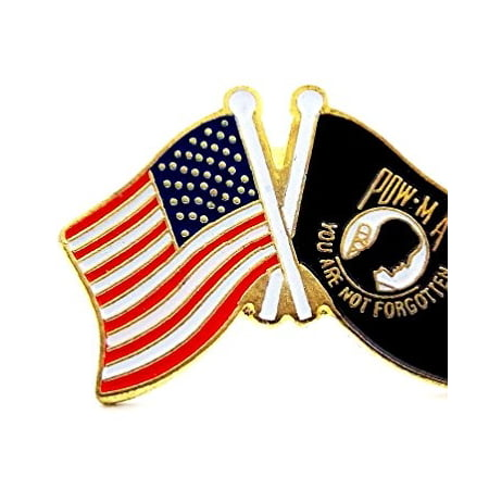 POW MIA And USA Flags Lapel Hat Pin Marines Army Navy Air Force Military PPM025