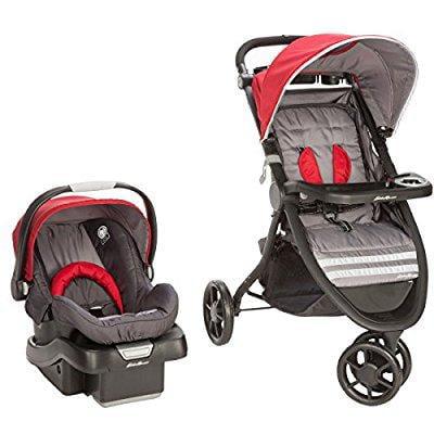 Ed Bauer Alpine 3 Travel System With Surefit Infant Car Seat Salsa Red