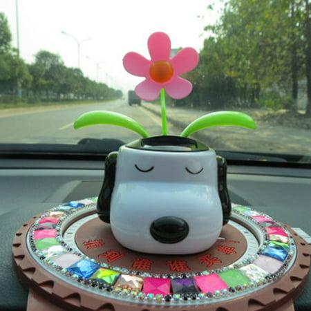 842552bb31284 Automobile Decoration Solar Powered Cartoon Snoopy Shape Flowerpot Flip Flap  Leaf Dancing Car Toys - Walmart.com
