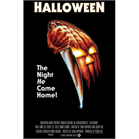 Halloween The Night He Came Home Vintage Movie Poster Horror 24X36 Knives](Last Day Halloween Horror Nights)