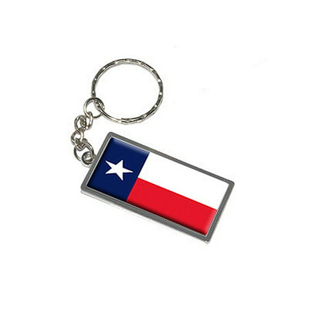 Texas State Flag Metal Rectangle Keychain