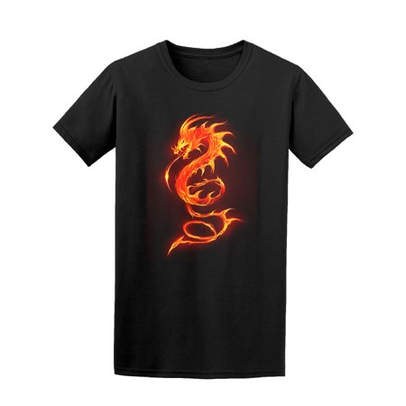 Fire Dragon In Flames Tee Men's -Image by (Fire Flame Dragon)