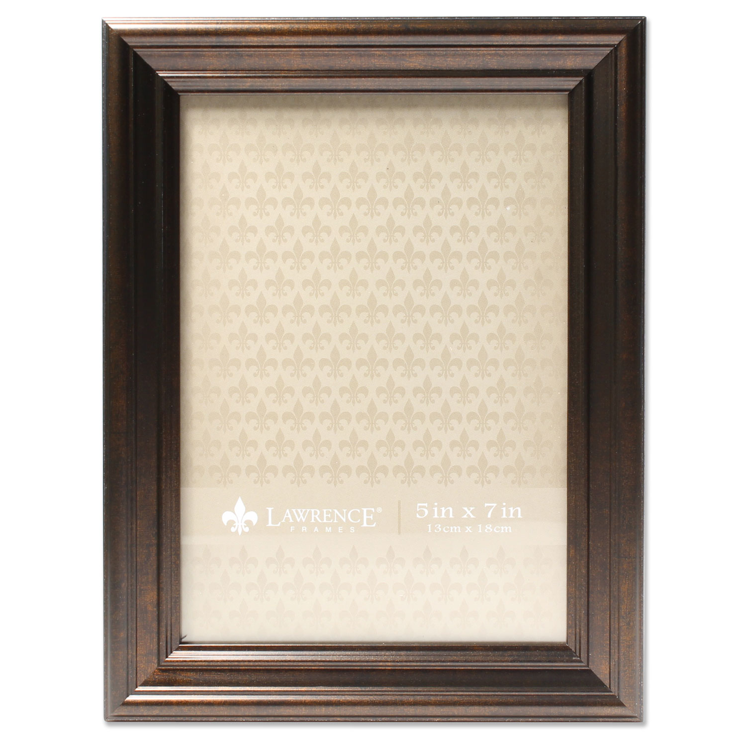 5x7 Classic Detailed Oil Rubbed Bronze Picture Frame by Lawrence Frames