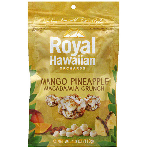 Royal Hawaiian Orchards Mango Pineapple Macadamia Crunch, 4.0 oz, (Pack of 6)