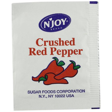 500 Hot Pepper - 500 PACKS : N'Joy Crushed Red Pepper, 1 Gram