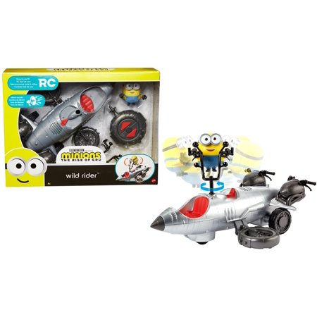Minions: The Rise of Gru Wild Rider Remote Control Vehicle And Action Figure For Kids 4 Years And Up