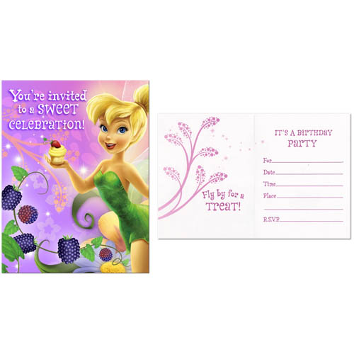 Tinker Bell 'Tink's Sweet Treats' Invitations w/ Env. (8ct)