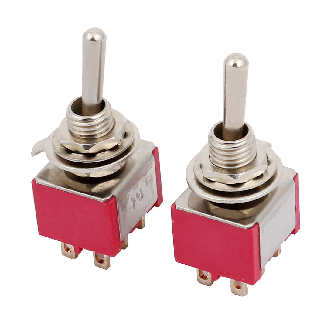 DPST ON-ON 2 Way 6 Terminals Latching Toggle Switch AC 250V 5A