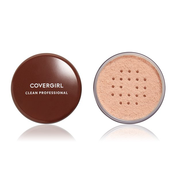 COVERGIRL Clean Professional Loose Powder, 110 Translucent Light, 0.7 oz