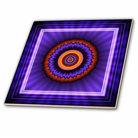 3dRose 12 blue red gold glowing energy power meditation orient peace h