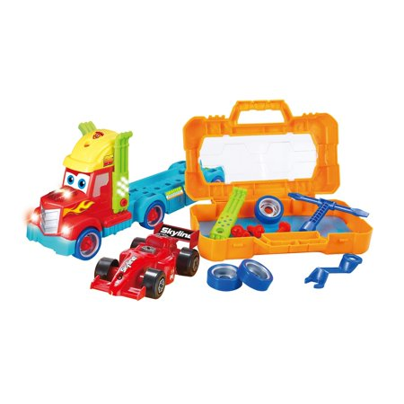 Take-A Part Carrier Tool Box with Racing Car and Lights & So
