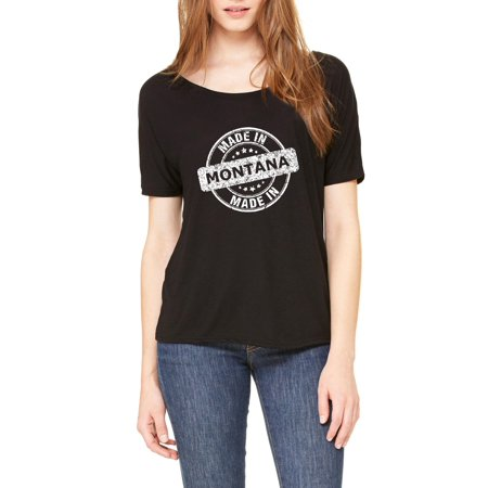 Made In Mt Montana Flag Billings Map Bobcats Grizzlies Home University Of Montana Womens Slouchy T Shirt Clothes