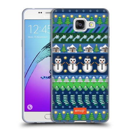 Gingerbread Emoji (OFFICIAL EMOJI CHRISTMAS PATTERNS SOFT GEL CASE FOR SAMSUNG PHONES)