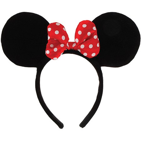 Minnie Mouse Ears Headband Halloween Accessory - Heavy Metal Band Halloween