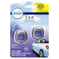Febreze Car Odor-Eliminating Air Freshener, Midnight Storm, 2 Ct