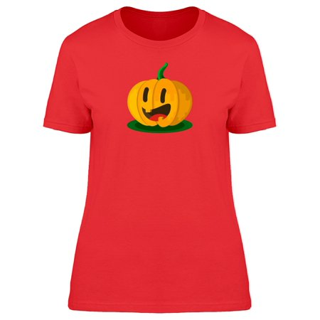 Cute Pumpkin Halloween Cartoon Tee Women's -Image by Shutterstock