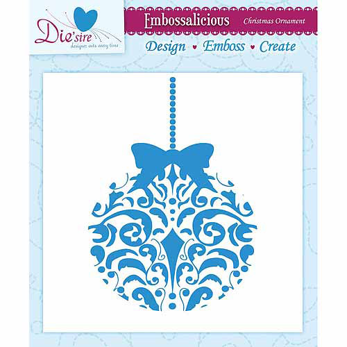 Crafters Companion EF6-CHOR Embossalicious Embossing Folder Christmas Ornament, 6-Inch x 6-Inch Multi-Colored