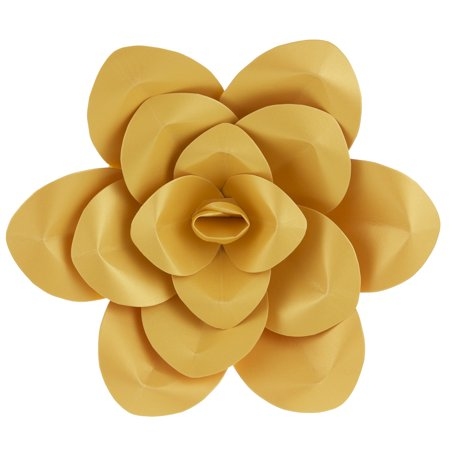 Mega crafts 16 handmade paper flower in gold for home dcor mega crafts 16 handmade paper flower in gold for home dcor mightylinksfo