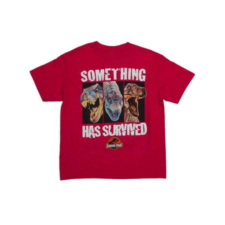 Wally World T Shirt (Jurassic World Something Has Survived Short Sleeve Crew Neck Tee Shirt (Little Boys & Big)