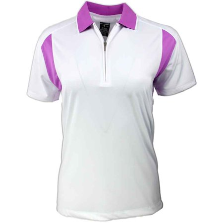 Colorblock Golf Polo - Page & Tuttle Womens Colorblock Trim  Golf Casual  Polo - White Xl