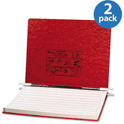ACCO Pressboard Hanging Data Binder, Executive Red, 2 Pack