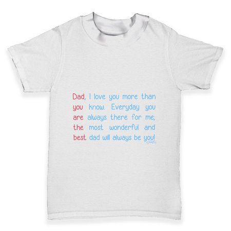 Baby Girl Tees Best Dad Poem Baby Toddler T Shirt Walmartcom