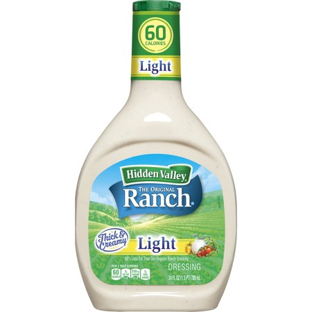 Hidden Valley Original Ranch Light Salad Dressing & Topping, Gluten Free - 24 Ounce Bottle