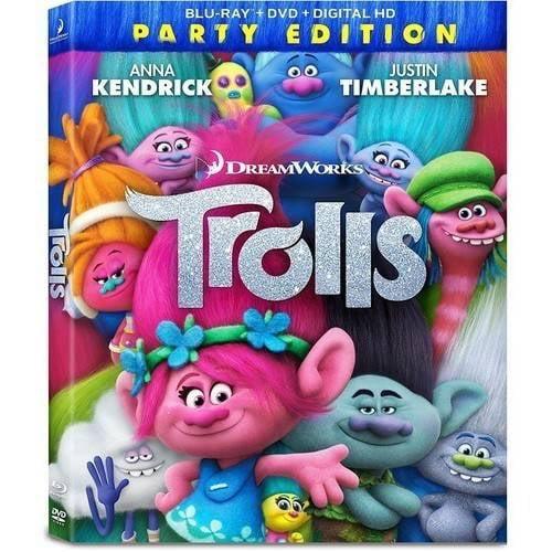 Trolls (Party Edition) (Blu-ray + DVD + Digital HD) (Widescreen)