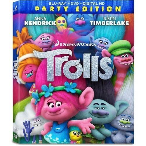 Trolls (Party Edition) (Blu-ray + DVD + Digital HD) (Widescreen)
