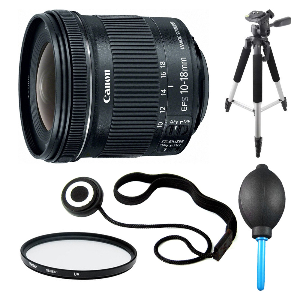 Canon EF-S 10-18mm F4.5-5.6 IS STM Lens Bundle For EOS T3 T5 T6i T6s T4i