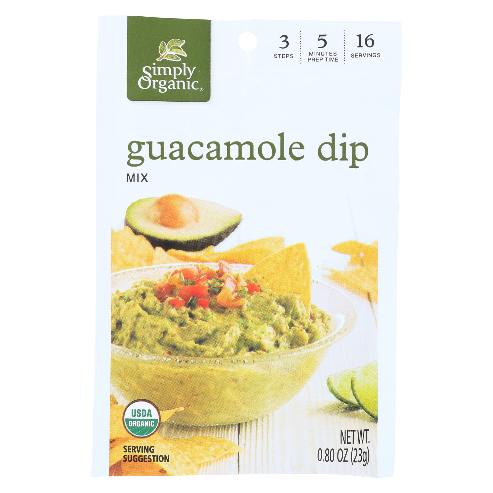 Simply Organic Guacamole Dip Mix Case of 12 0.8 oz. by