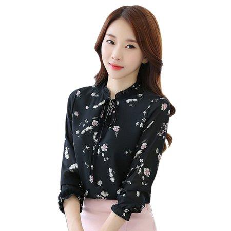 2b292aeade4 EFINNY - Women Tops for Work OL Blouses Chiffon T-Shirt Fall Long Sleeve Tee  Girl Shirt - Walmart.com