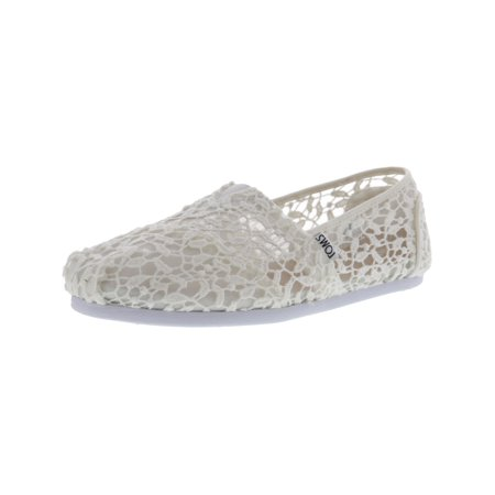 49c74f03 TOMS - Toms Women's Classic Lace White Leaves Fabric Flat Shoe - 9.5M -  Walmart.com